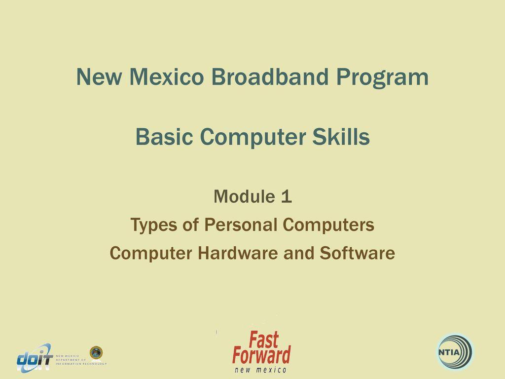 new mexico broadband program basic computer skills