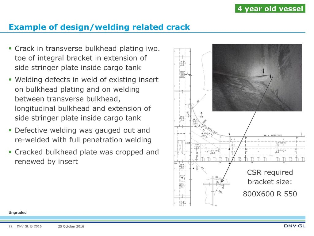 Hull Damage Experience In Csr Tankers Tscf Sbm Busan October Ppt Welding Defects Diagram Example Of Design Related Crack