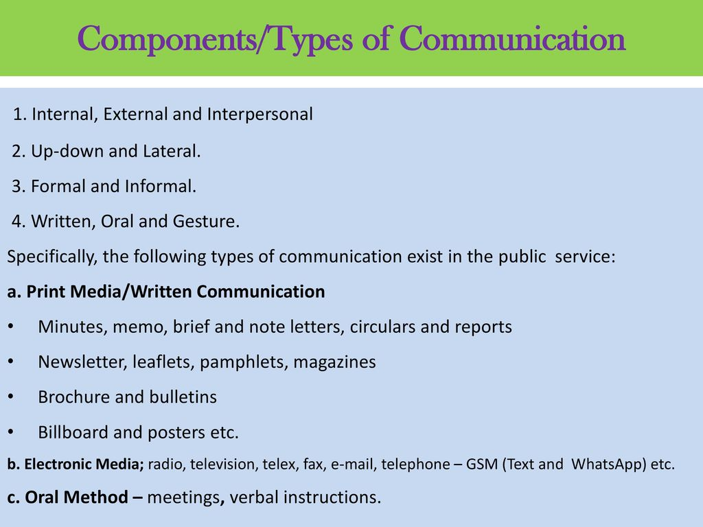 formal written communication used in the public services