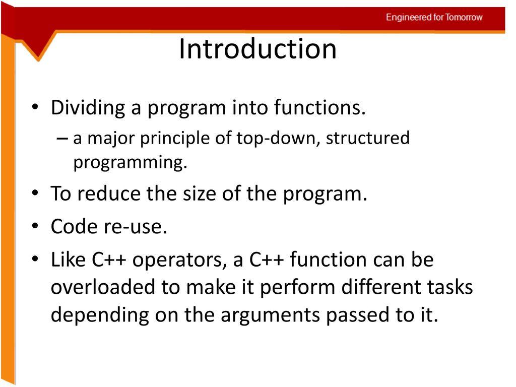 Structural Programming: Basic Principles 87