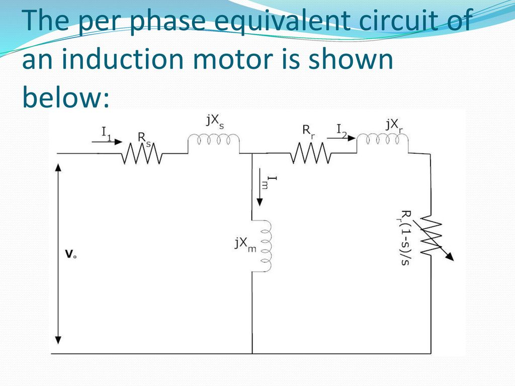 Speed Torque Characterstics Of 3 Phase Induction Motor Ppt Download Constant Airgap Equivalent Circuit 4 The Per An Is Shown Below
