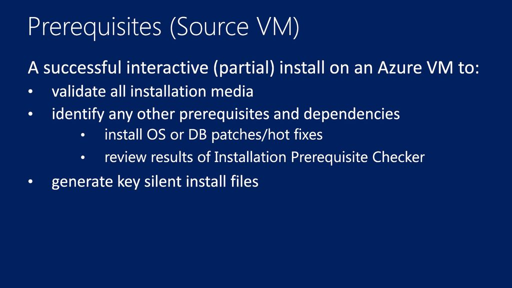 Deploying SAP on Azure SAP NetWeaver Silent Install - ppt