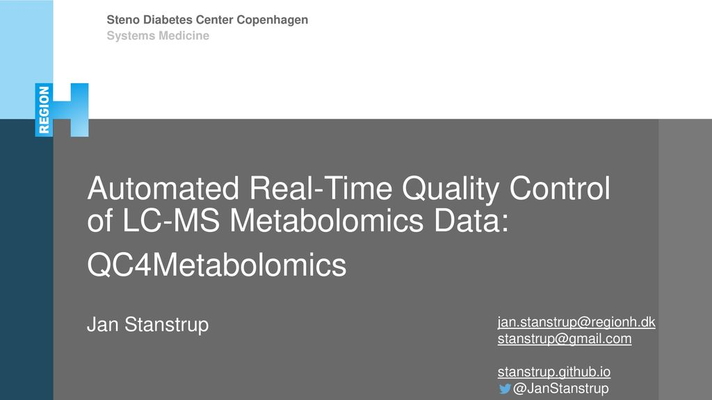 Systems Medicine Automated Real-Time Quality Control of LC