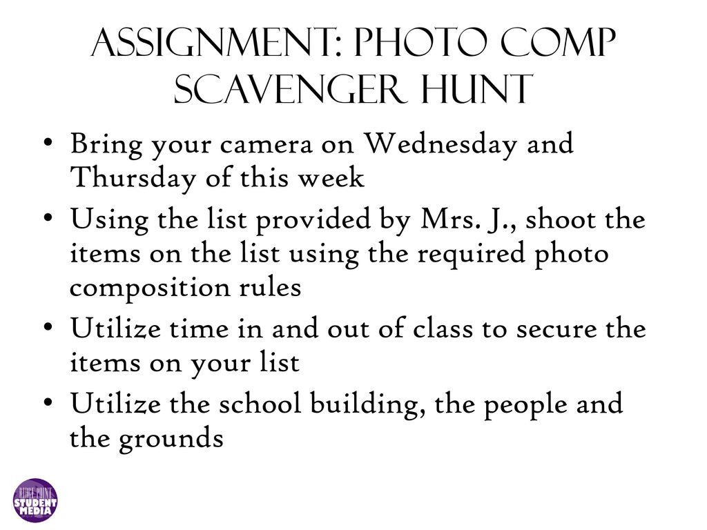 Photo Composition Scavenger Hunt Ppt Download