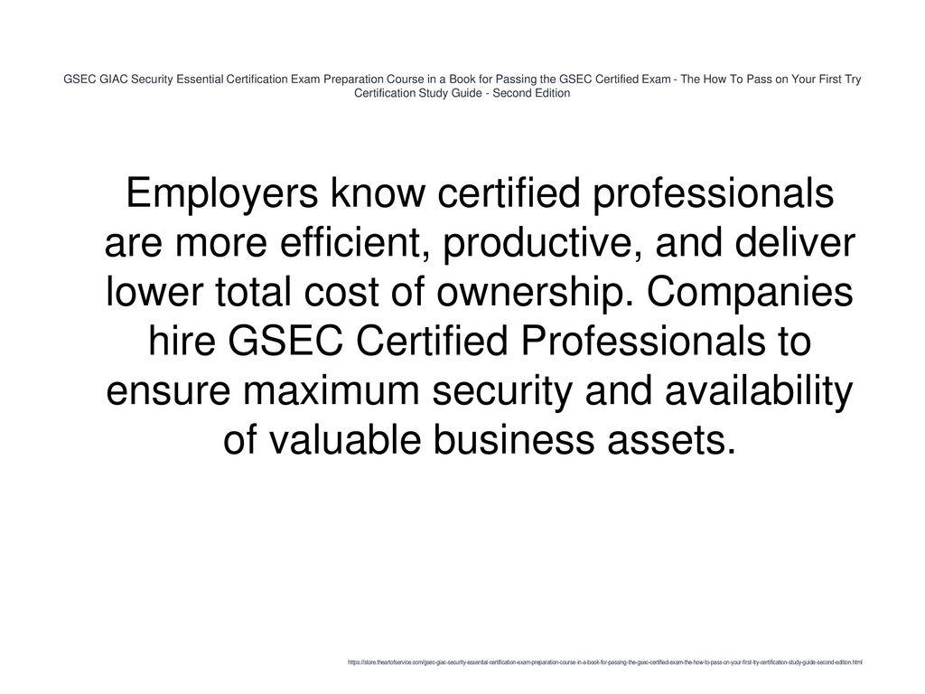 Gsec Giac Security Essential Certification Exam Preparation Course