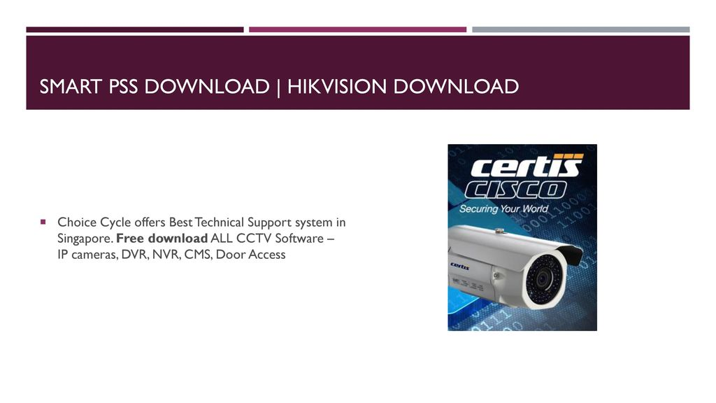 Free Download CCTV Camera Software and Manual  - ppt download