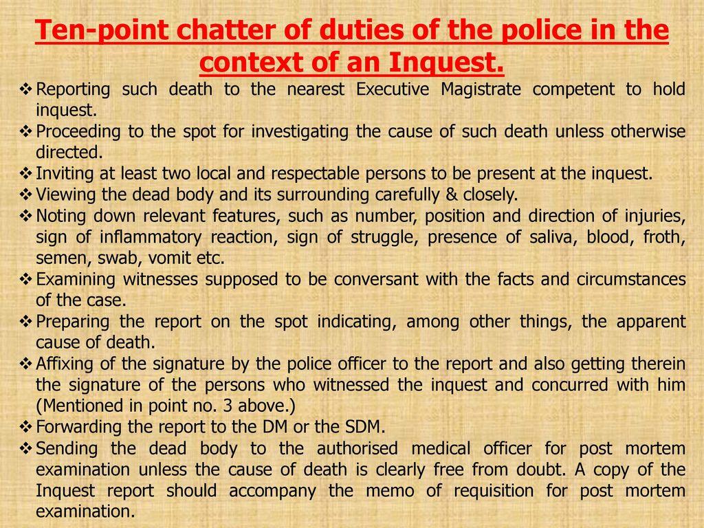 inquest report under crpc