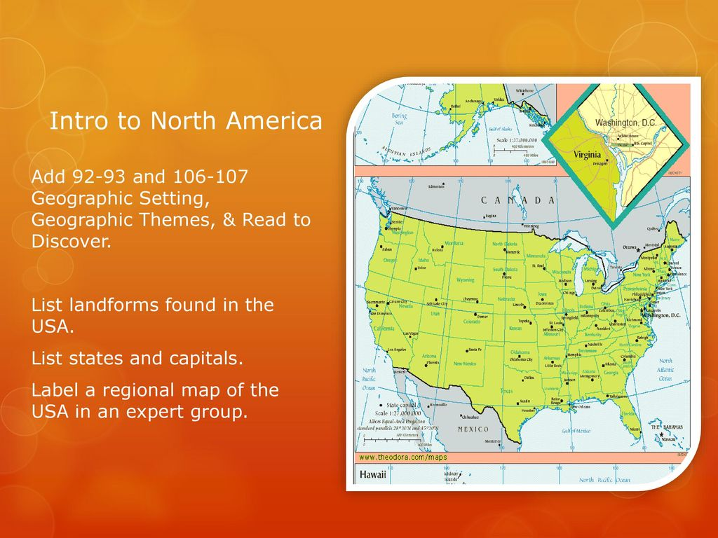Intro to North America Add and Geographic Setting ...