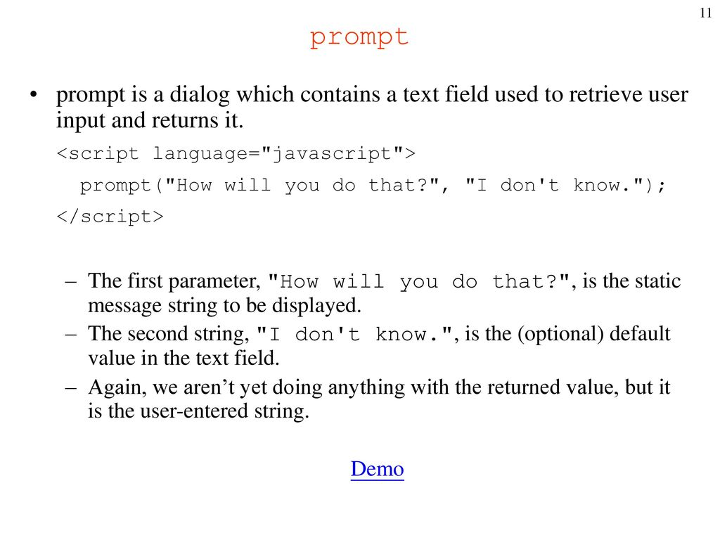 Internet Programming Chapter 3: Introduction to JavaScript