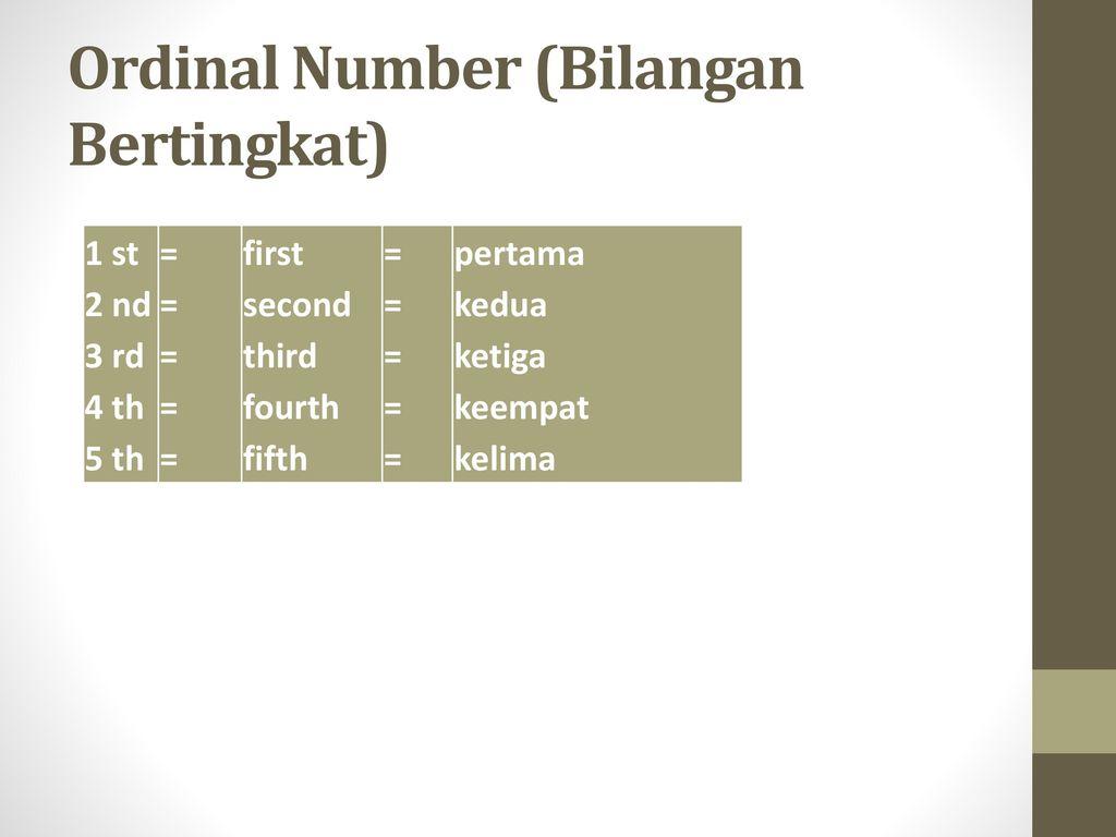 B inggris teknik nama taufikurrochman nim jurkelsmt tek ordinal number bilangan bertingkat ccuart Images