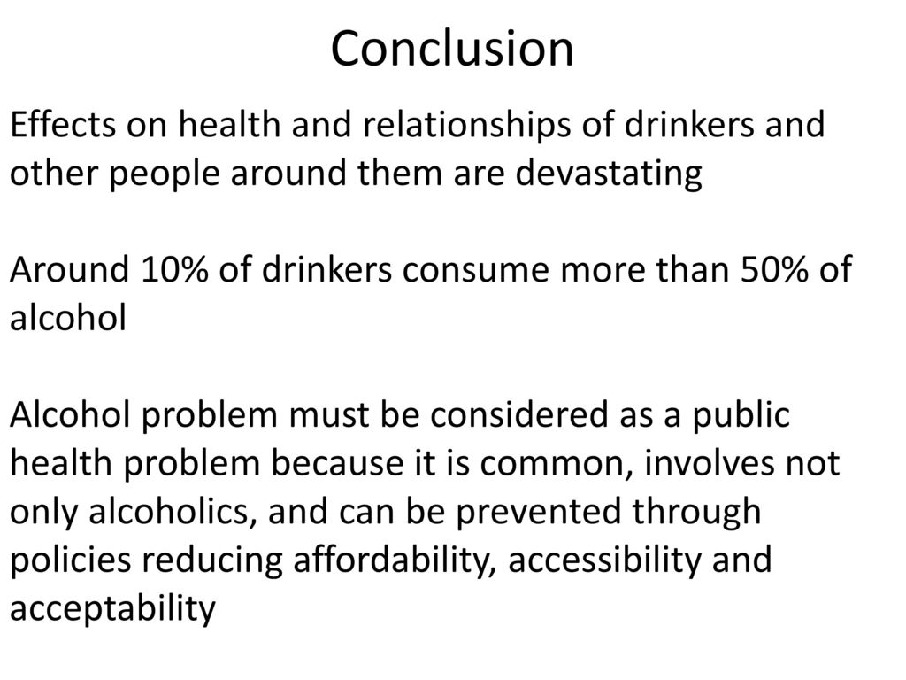 conclusion on effects of alcoholism