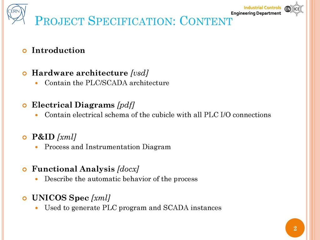 Unicos Unified Industrial Control System Cpc Continuous Process Electrical Diagram Pdf 2 Project Specification Content