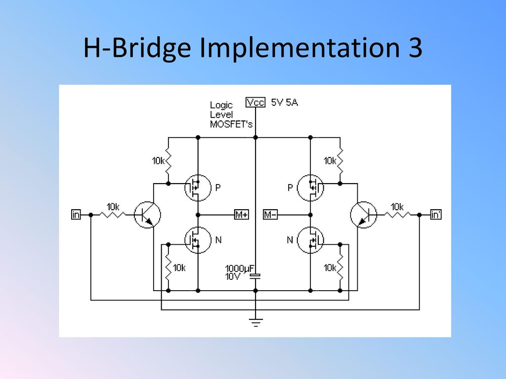 Chapter E Transistors And H Bridges Ppt Download Bridge Circuit Diagram Mosfet 10 Implementation 3