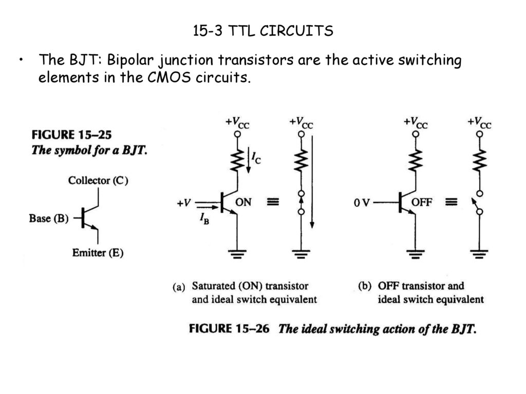Ei205 Lecture 15 Dianguang Ma Fall Ppt Download Ttl Equivalent 28 3 Circuits The Bjt Bipolar Junction Transistors Are Active Switching Elements In Cmos
