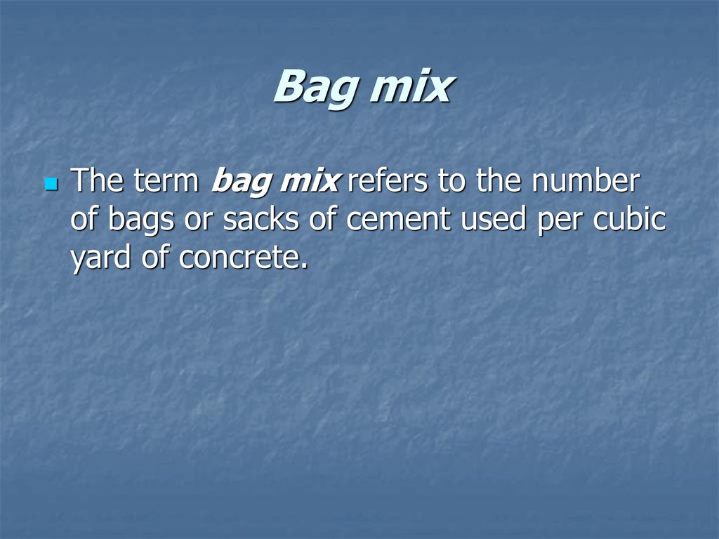 Number Of Bags Of Concrete In A Cubic Yard
