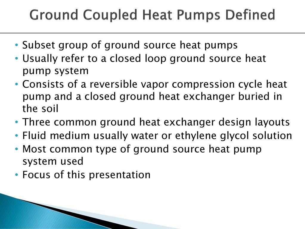 mission the ground source heat pump (gshp) recx serves to enhance