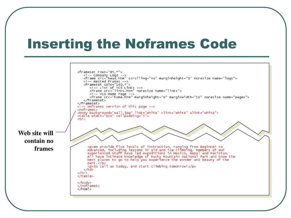 Designing a Web Site with Frames - ppt download