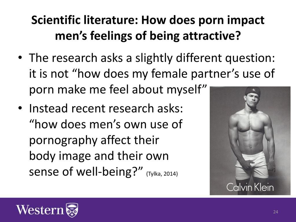 Research on male pornography use