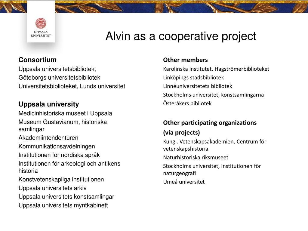 Alvin Cooperative Project