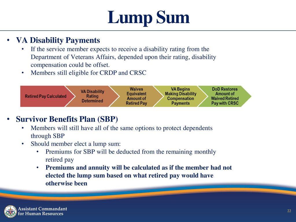 Survivor benefit plan and va disability
