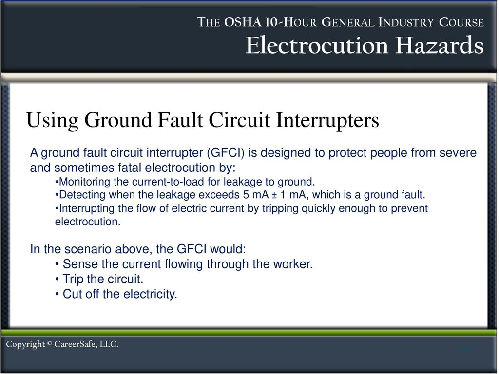 Electrocution Hazards Ppt Download Circuit Interrupters Using Ground Fault