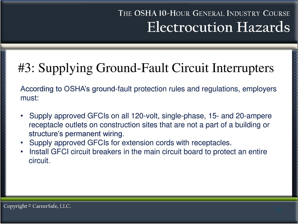 Electrocution Hazards Ppt Download Circuit Interrupters 3 Supplying Ground Fault