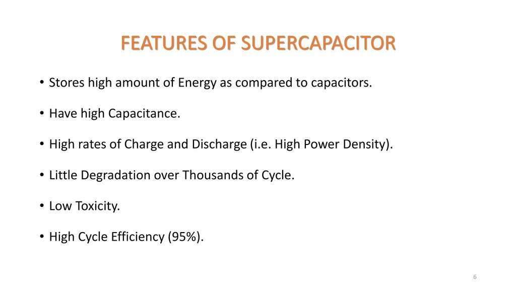 SUPERCAPACITOR AS AN ENERGY STORAGE DEVICE - ppt download
