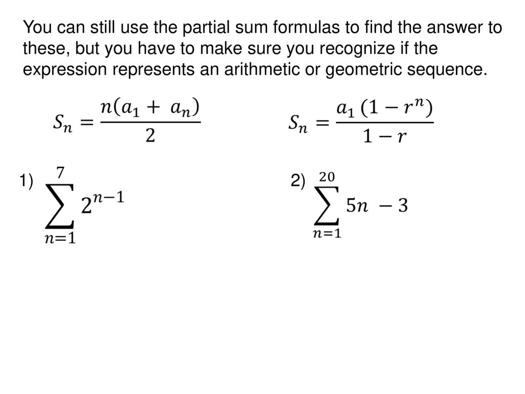 The Symbol For Summation Is The Greek Letter Sigma S Ppt Download