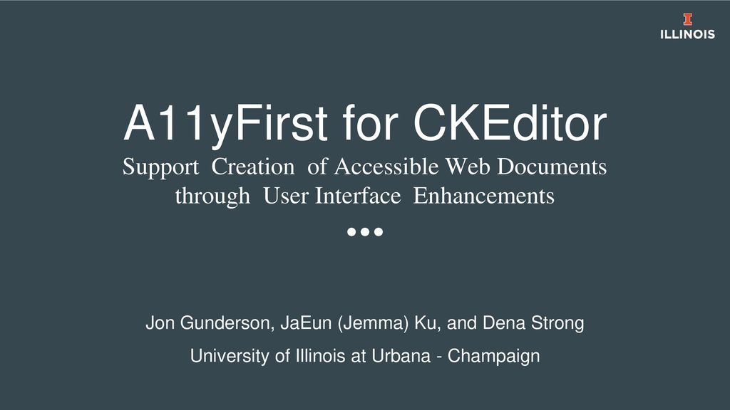 A11yFirst for CKEditor Support Creation of Accessible Web