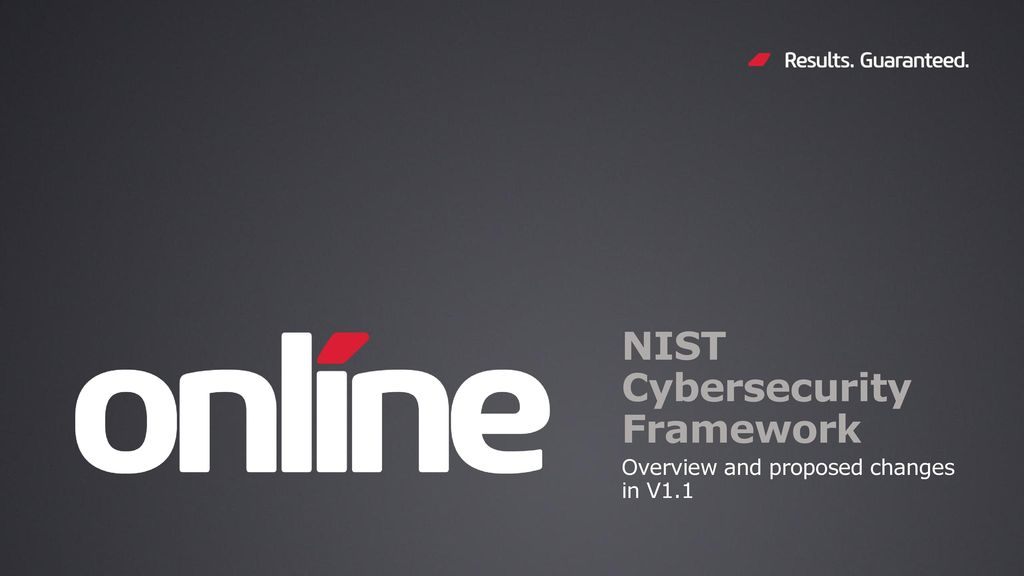 NIST Cybersecurity Framework - ppt download