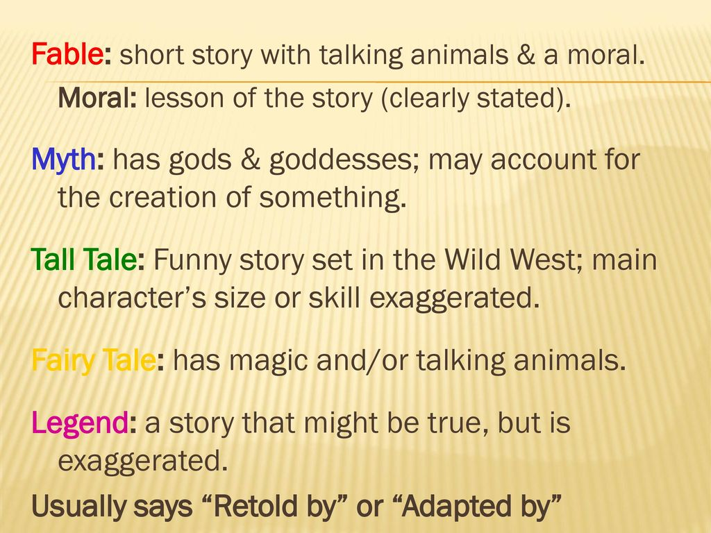 Genres and Subgenres Classifying Stories  - ppt download