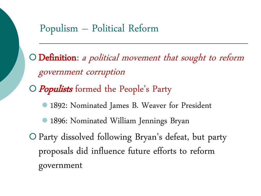 the progressive era populism and progressivism standard ppt download