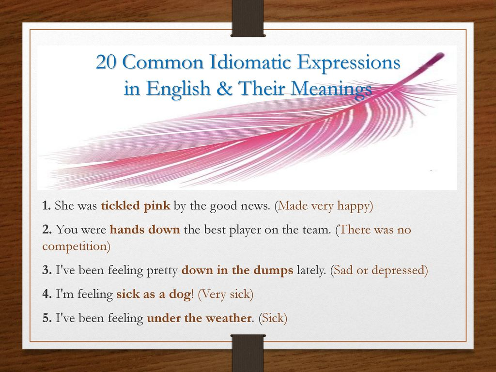 best idiomatic expressions