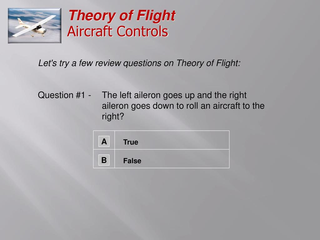 Aircraft Controls Ppt Download Ailerons Control The Roll Of An Airplane Theory Flight