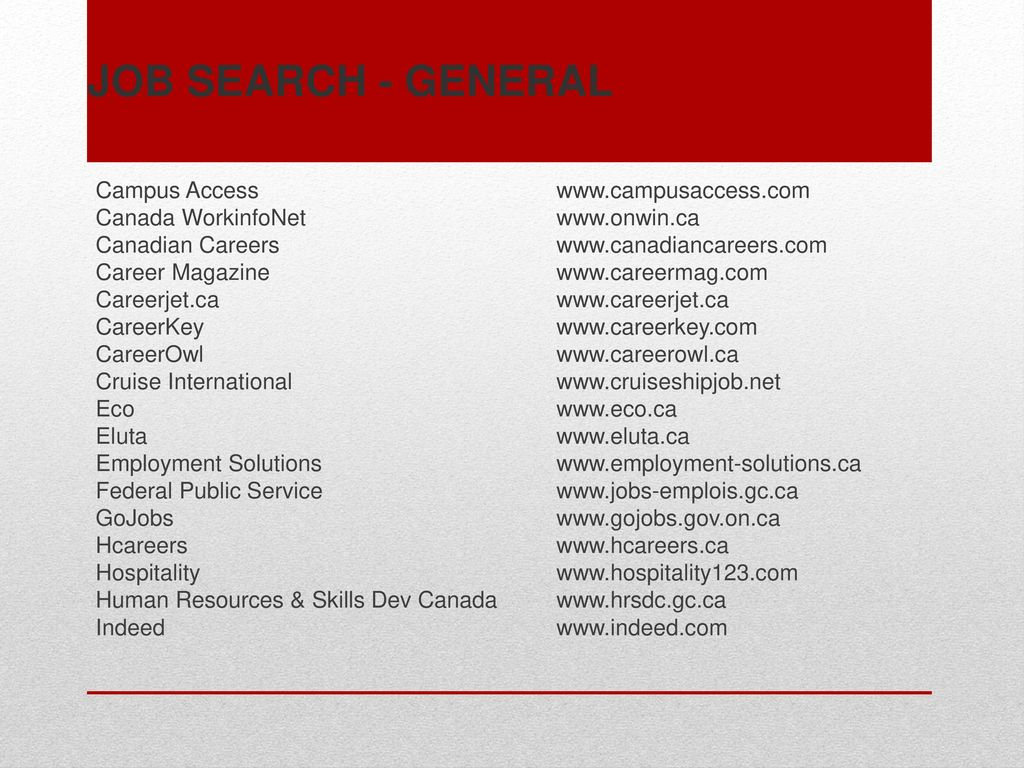 Search Engines, Job Banks, and Employment Opportunities