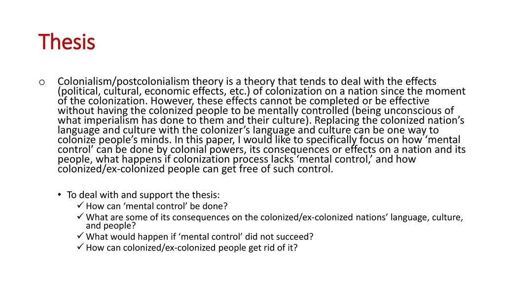 summary of postcolonial criticism
