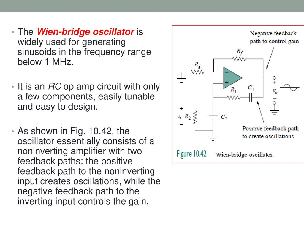 36 Thevenin And Norton Equivalent Circuits Ppt Download Of The Op Circuit Is On Impedance Rc Series Diagram Wien Bridge Oscillator Widely Used For Generating Sinusoids In Frequency Range Below