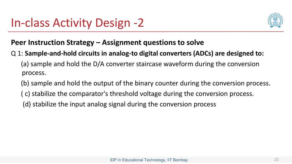 in class activity design 2