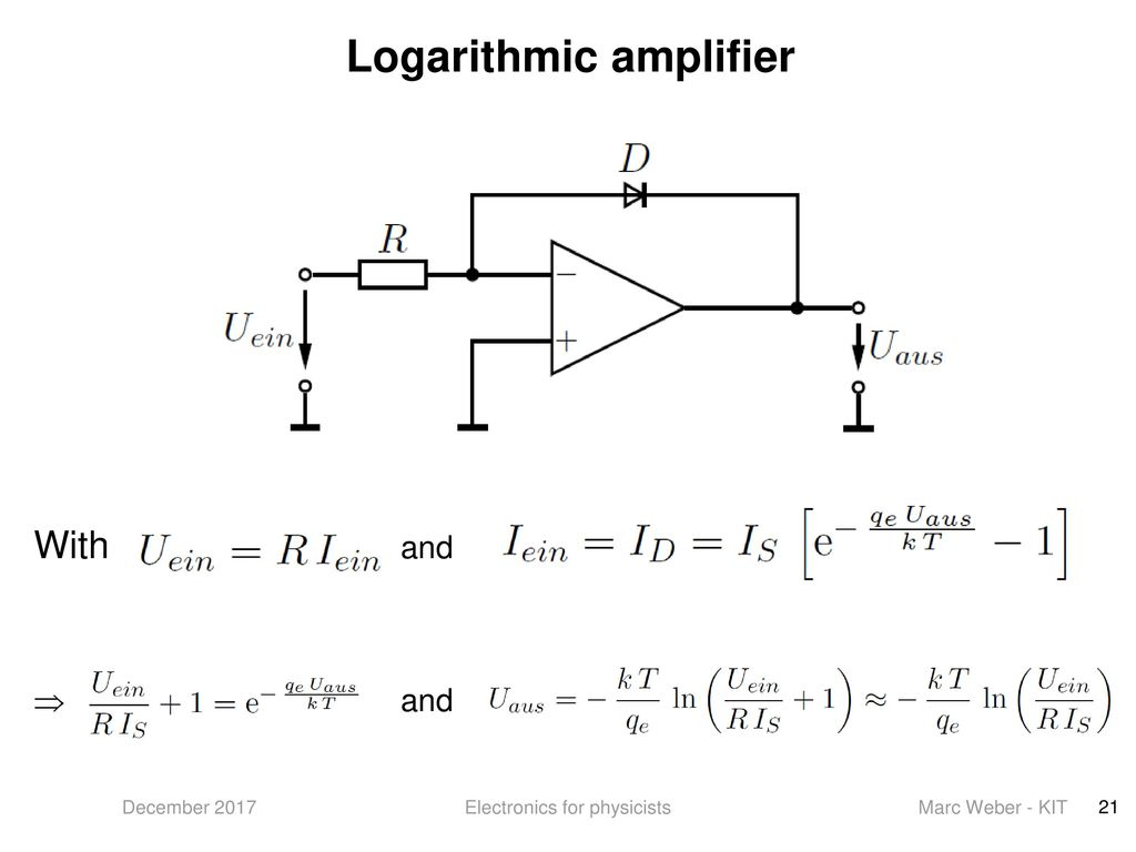 Electronics For Physicists Ppt Download Fast Logarithmic Amplifier