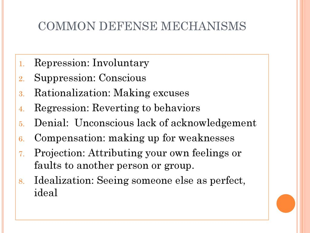 5 Common Defense Mechanisms achieving good mental health - ppt download
