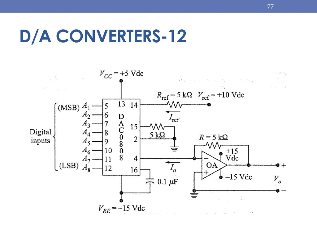 Module 5 Counters Dac And Adc Ppt Download D A Converter Circuit Diagram 77 Converters 12