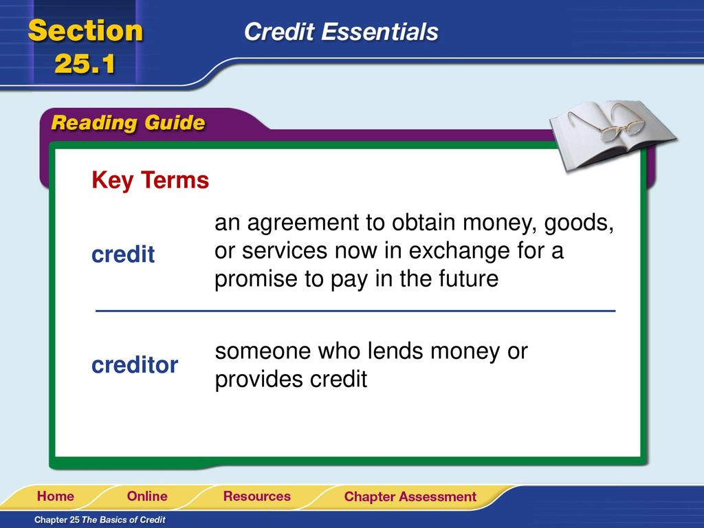 Read To Learn Define Credit And Indicate Three Factors That Affect