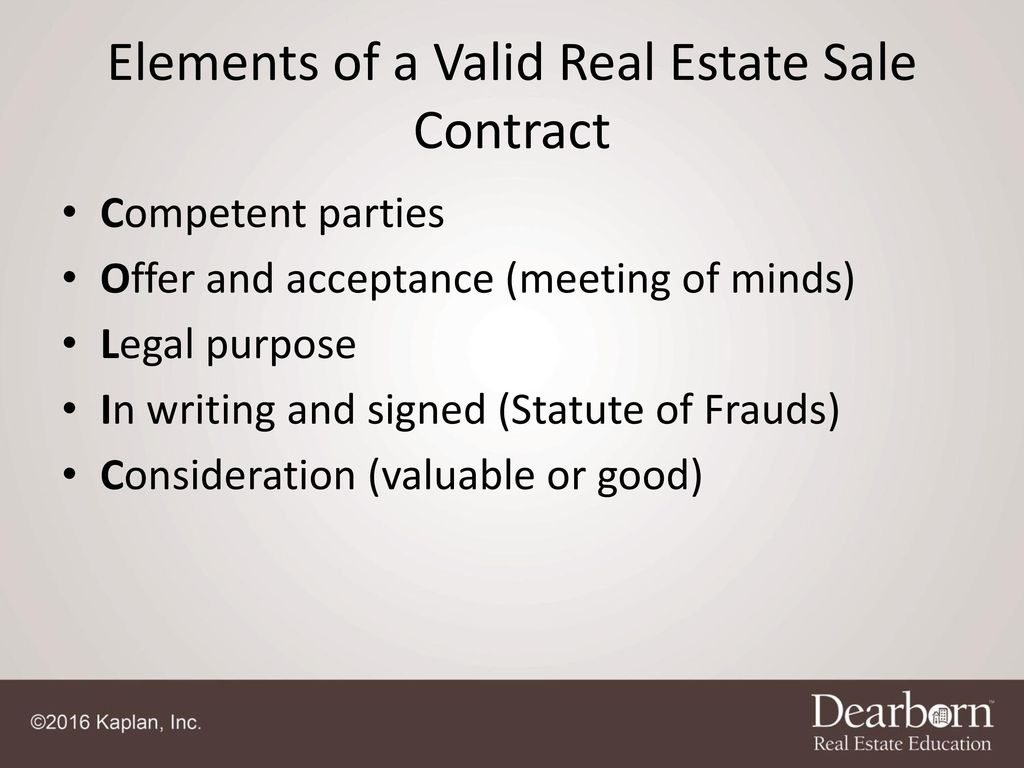 7 Elements Of A Valid Real Estate