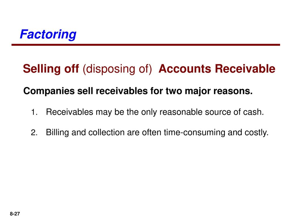 selling accounts receivable journal entry