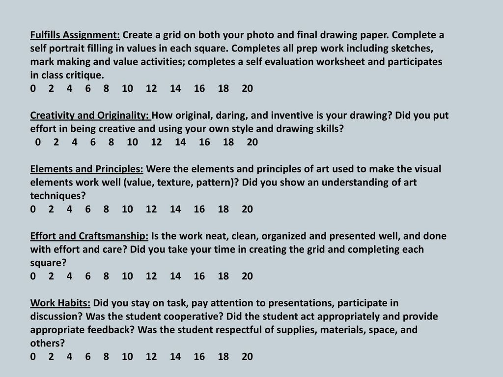 The GRID METHOD of DRAWING - ppt download