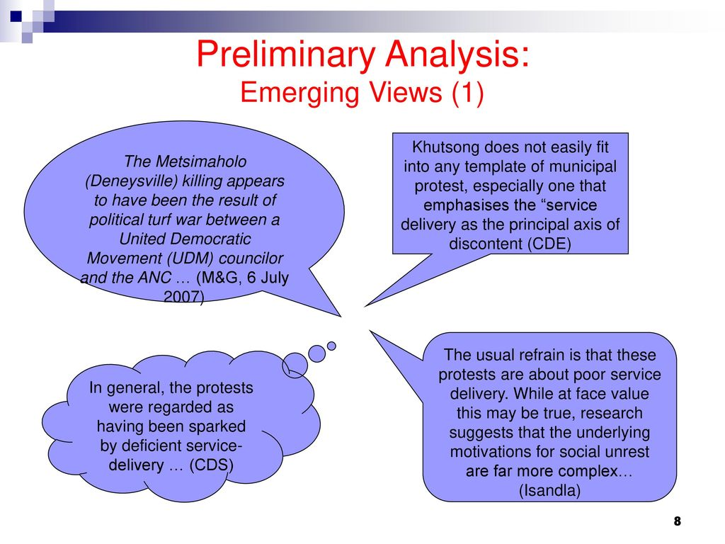 Preliminary Overview of Service Delivery – Related Protests - ppt