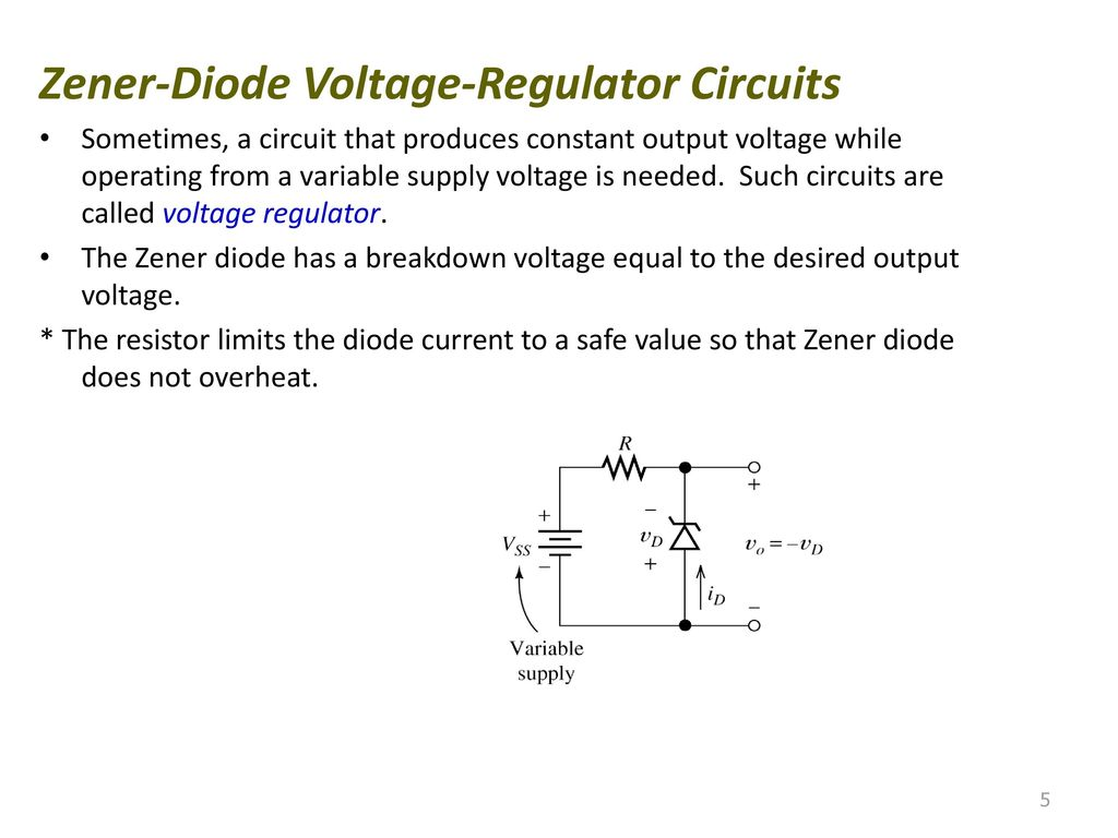 Diode Voltage Regulator And A Zener In Simple Circuit Circuits 1024x768