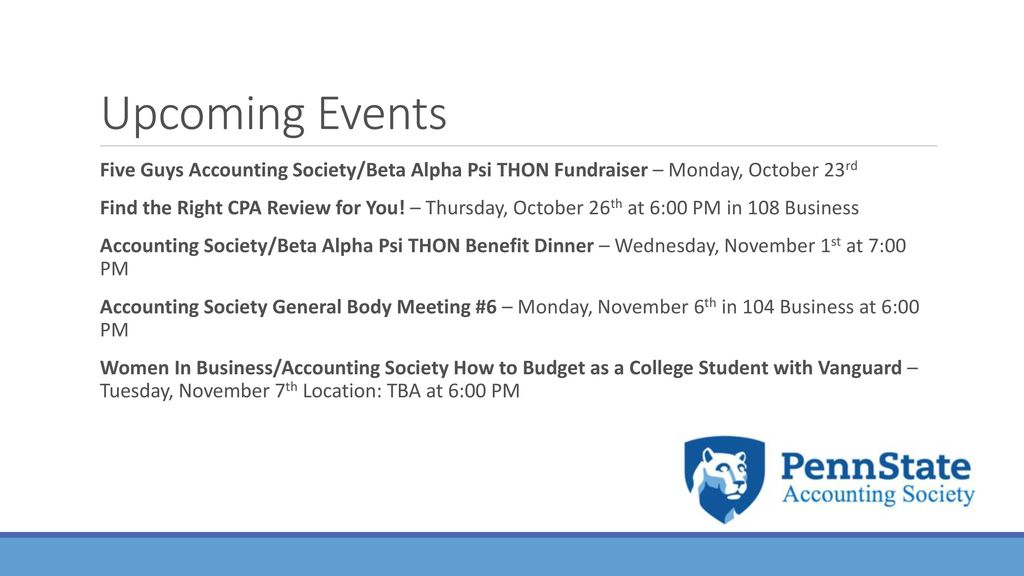 accounting society general body meeting 5 ppt download