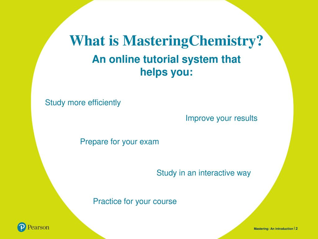 MasteringChemistry Getting started Presenter instructions