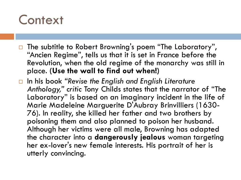 the laboratory robert browning annotated